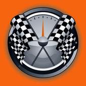 Checkered Flag Logo — Stock Vector