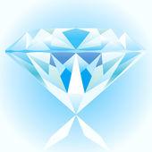Diamond modrá — Stock vektor