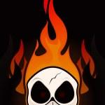 Fire Skull — Stock Vector