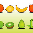 Fruit Set 1 - Stock Vector