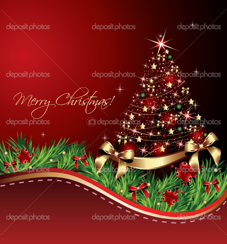 Christmas Tree Card — Stock Vector #7115302