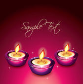 Beautiful Candle Background — Stock Vector