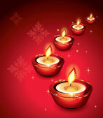 Beautiful Candle Background — Stock vektor