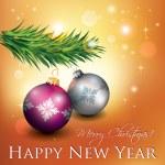 Christmas Decoration Card — Stock Vector