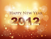 Новый год празднования карта — Cтоковый вектор