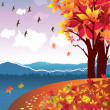 Autumn Landscape Vector — Stock Vector