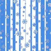 Padrão sem emenda com flocos de neve em fundo listrado — Vetorial Stock