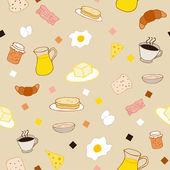 Colored breakfast theme — Stock Vector