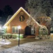 Christmas decorated cottage — Stock Photo