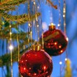 Christmas tree ornaments - Stock Photo