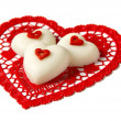 Chocolate hearts - Stock Photo