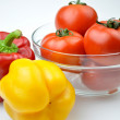 Bell peppers and tomatoes — Stock Photo
