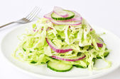 Vegetables salad for eat — Stock Photo