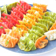 Raw vegetable dumplings — Stock Photo