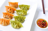 Raw vegetable dumplings — Stock Photo