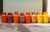 Any colored gas cylinders — Stock Photo