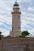 Deniz feneri tarihi taş — Stok fotoğraf