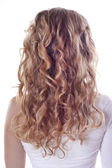 Blond curl hair — Stock Photo