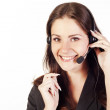 Woman operator with headset — Stock Photo #7369333