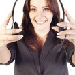 Woman operator with headset — Stock Photo #7369402