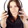 Woman operator with headset — Stock Photo #7561116