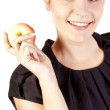 Young woman with apple — Stock Photo #7561381