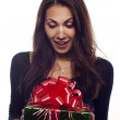 Royalty-Free Stock Photo: Young woman with a present