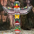 Totem Pole Eagle wings — Stock Photo
