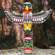 Stock Photo: Totem Pole Eagle wings