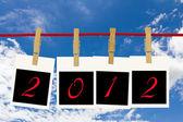 Marcos de fotos 2012 y azul cielo — Foto de Stock