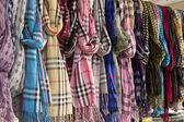 Scarves and shawls — Stock Photo