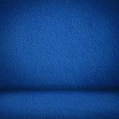 Blue wall and floor interior — Stockfoto