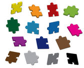 Vector puzzle 3D — Stock Vector