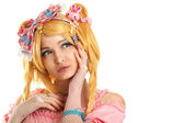Lolita doll character portrait young woman — Stock Photo