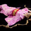 Beauty woman lay in kimono cosplay character — Stock Photo #6852321