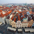 View from The Old Town Square of Prague City - Stock Photo