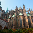 Historical Prague cafedral and tourist walk around — Stock Photo