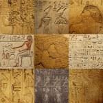 jeu de l'écriture égyptienne antique — Photo