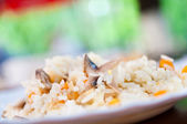 Rice with vegetables and mushrooms — Stock Photo