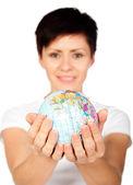 Niña con globo — Foto de Stock