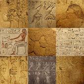 Conjunto de escritura egipcia antigua — Foto de Stock