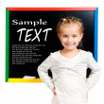 Girl with blackboard — Stock Photo #7217144