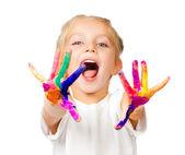 Hände in der farbe — Stockfoto