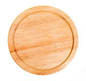 Round wooden kitchen board — Stock Photo