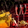 Two glasses with decorations — Stock Photo
