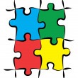 Colorful Puzzle Pieces — Stock Photo