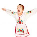 Girl dressed in Ukrainian — Stock Photo #7659170