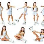 Girl on skates — Stock Photo #7659284