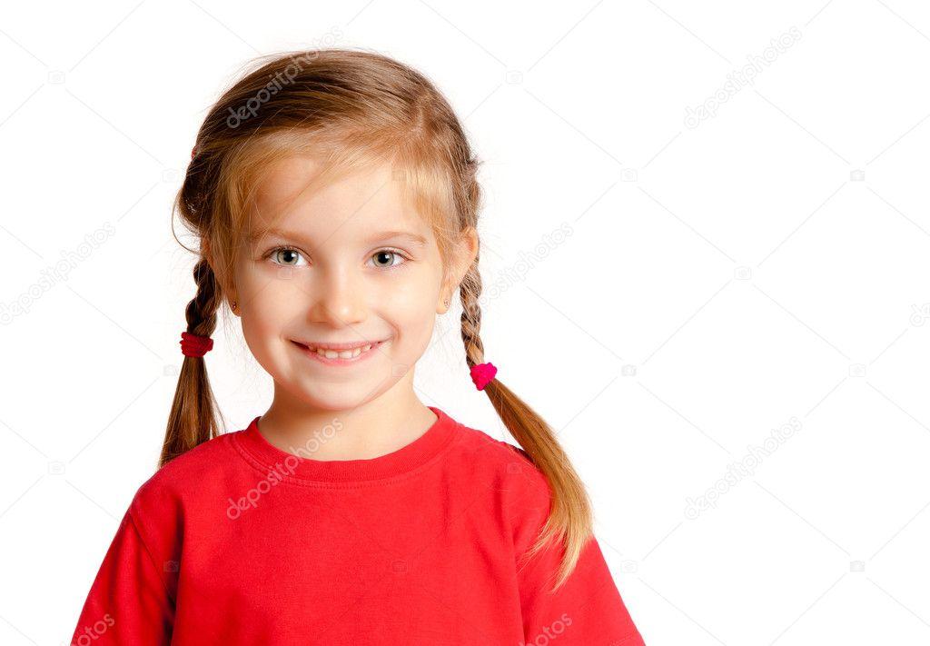 的可爱小女孩