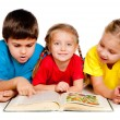 Small kids with a book — Stock Photo #7729555